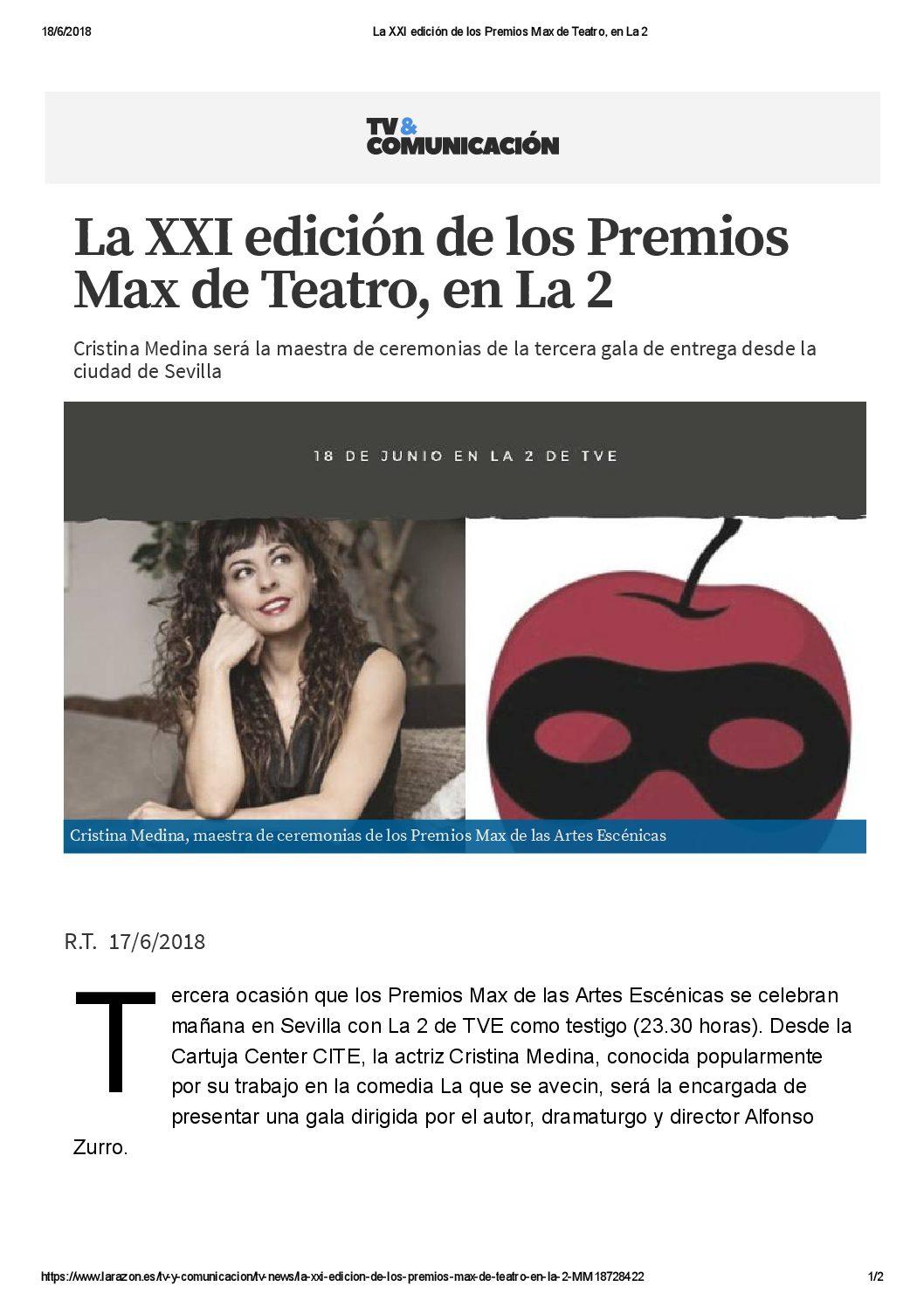 180617 CON PREMIO MAX LA RAZÓN